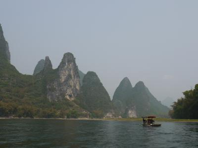 Bamboo boating on the Li River