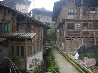Wooden houses in Ping'an