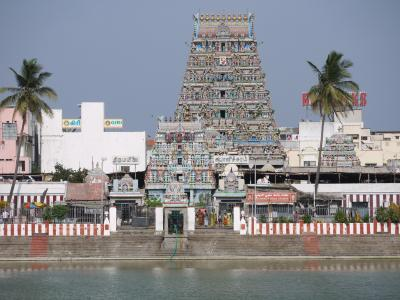 Colorful Hindu temple in Chennai