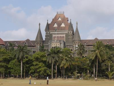 High Court and cricket field in Mumbai
