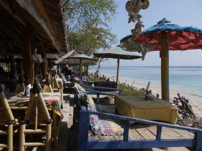 Beachfront restaurant on Gili Air