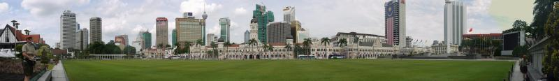 Panorama of the Colonial district of Kuala Lumpur