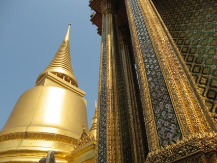 In the Bangkok palace complex