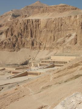 Temple of Hatshepsut seen from the hill