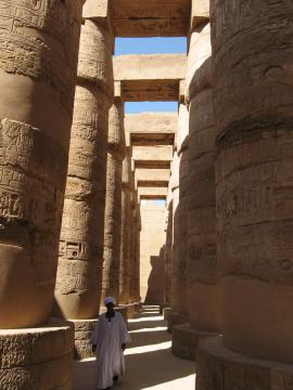 Great hall in the temple of Karnak