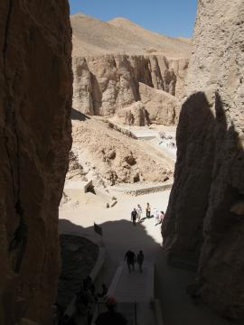 Valley of the kings, seen from the Thutmoses III entrance