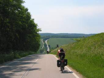 Hilly road to the Czech border