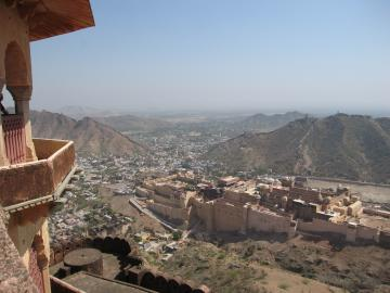 Amber Fort seen from Jaighar Fort
