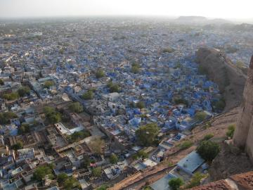 View of the Blue City from the Jodhpur fort