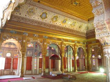 Banquet hall in the Jodhpur fort