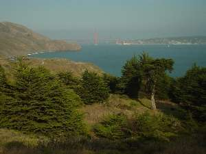 view from Marin headlands to San Francisco