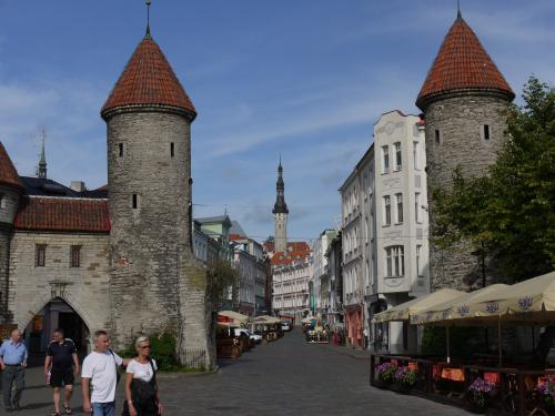 Gate between the new and old towns of Tallinn