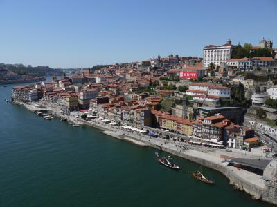 Porto's downtown from the Dom Luís bridge